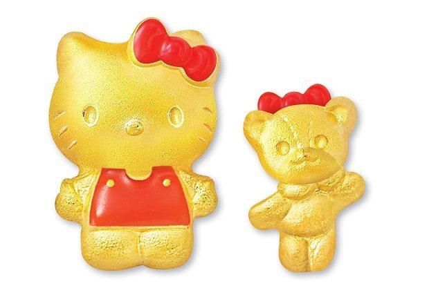 Just Gold x Hello Kitty「愛的抱抱」純金耳環, 19,60...