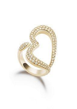 楊千霈配戴的伯爵Piaget Heart指環。圖/Piaget提供