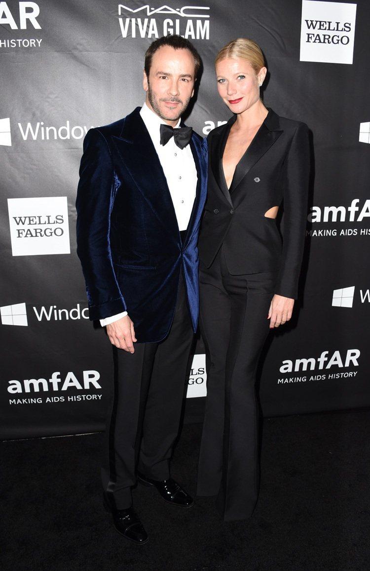 奧斯卡金像獎影后葛妮絲派特蘿(左)攜海瑞溫斯頓閃耀出席 2014 年 amfAR...