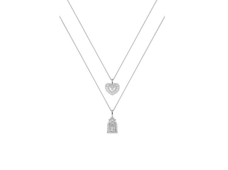 海瑞溫斯頓 Cluster Heart 鑽石墜飾 TWD 262,000(上)...