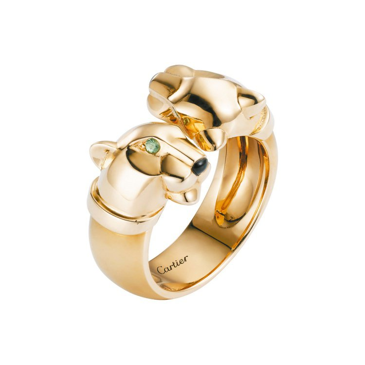 卡地亞Panthere de Cartier美洲豹系列戒指。圖/卡地亞提供