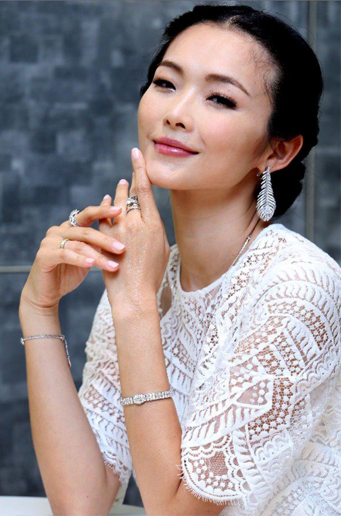 名模金禧展演Boucheron婚戒珠寶系列。記者徐兆玄/攝影