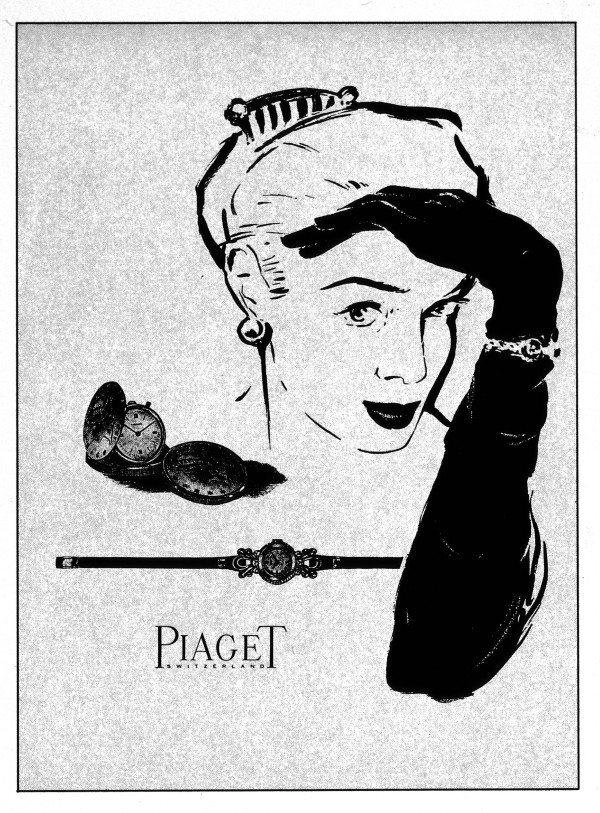 伯爵40年代的廣告。圖/伯爵提供