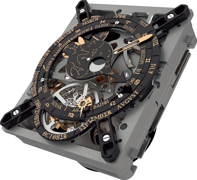 HUBLOT團隊在以腕錶尺寸復刻Antikythera儀器時所面對的挑戰在於,必...