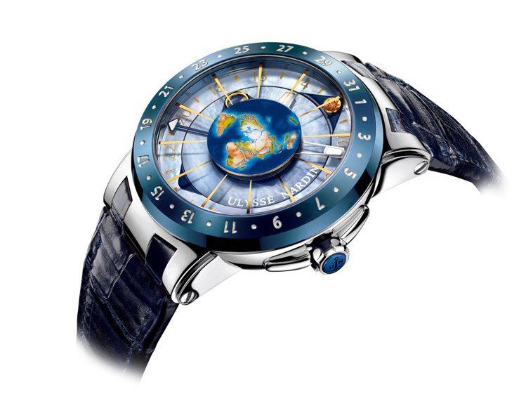 Moonstruck月之狂想UN-106自動上鍊機芯∕18K玫瑰金材質∕錶徑46...