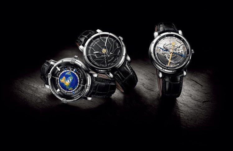 1980年代由歐克林博士擔綱設計的「天文三部曲」套錶,透過三只功能截然不同的錶款...