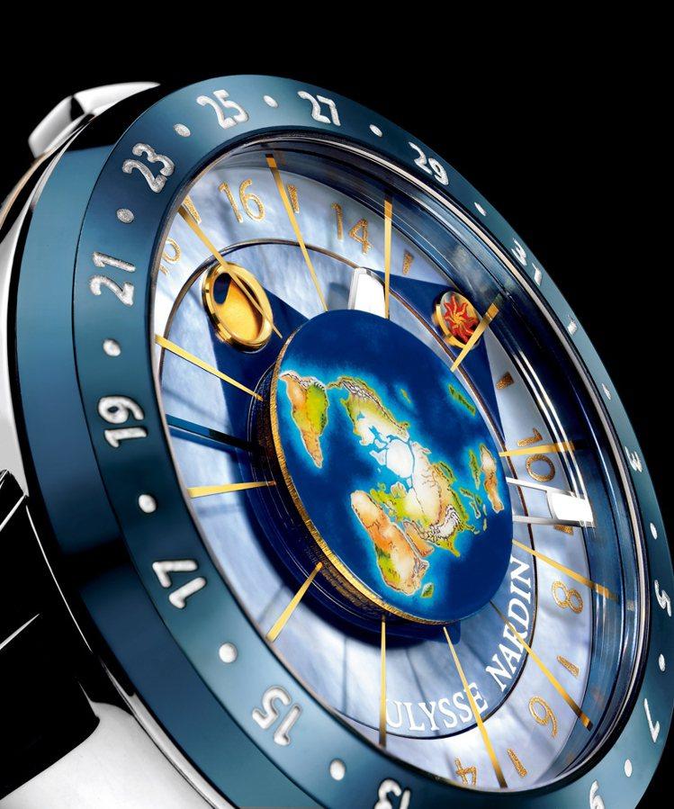 Moonstruck是極少數以地球為觀察中心來呈現天文概念的天文錶作品,透過腕錶...