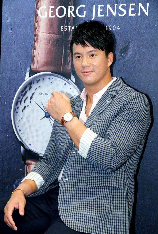 首度出席精品活動的高國輝表示,收藏腕表是他的夢想,可惜限量表已全數賣完。記者陳俊...