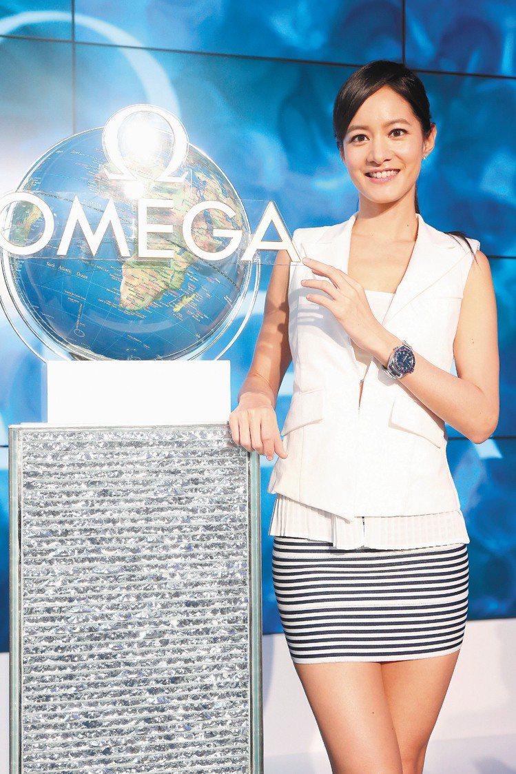 OMEGA發表PLANET OCEAN新表,邀請藝人Janet擔任嘉賓。記者陳立...