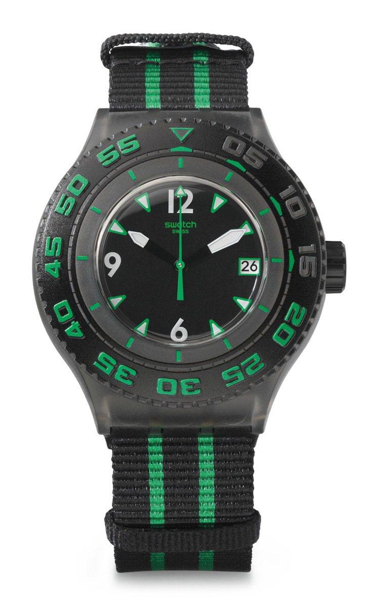 SWATCH綠海龜手表,防水200米,定價2,700元。圖/SWATCH提供非報...