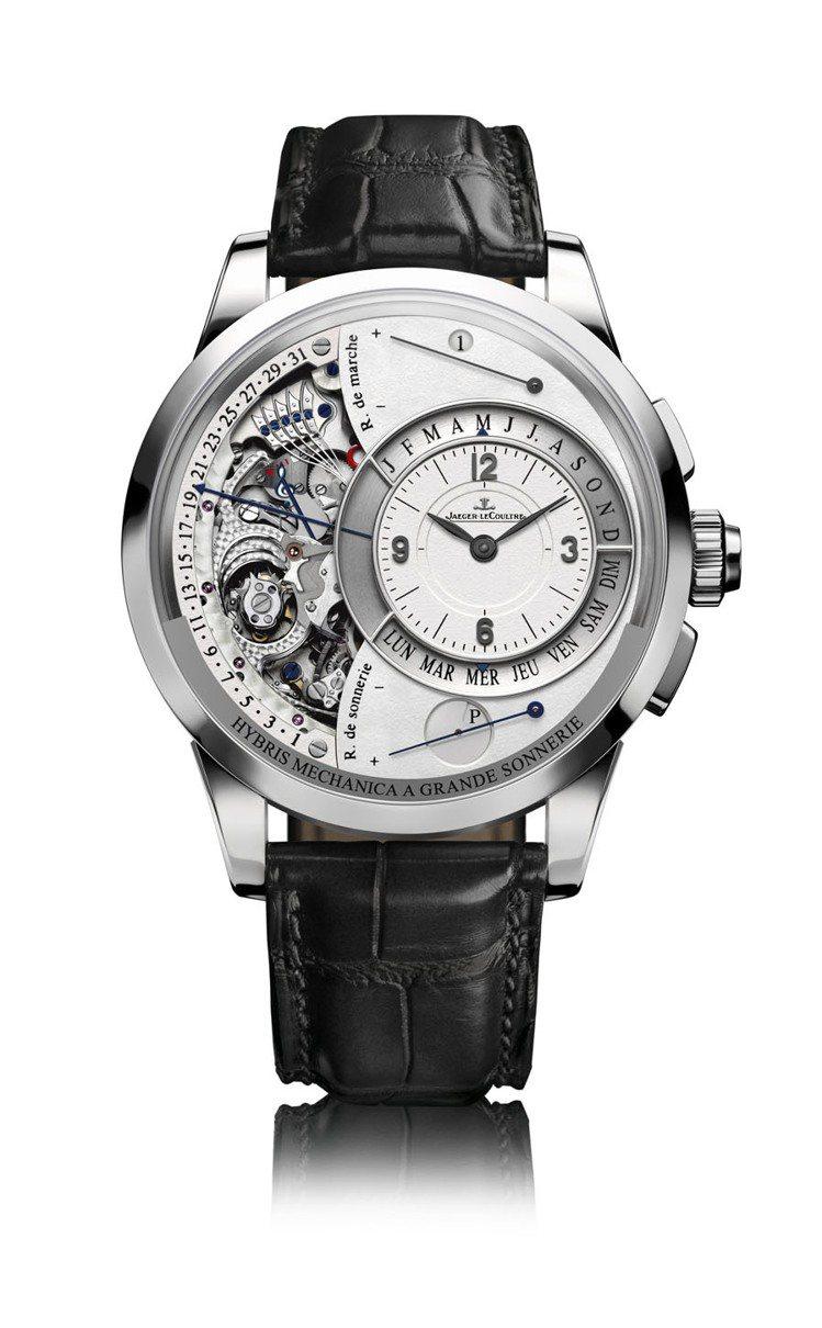 雙翼大自鳴腕錶Duometre a Grande Sonnerie。圖/積家錶提...
