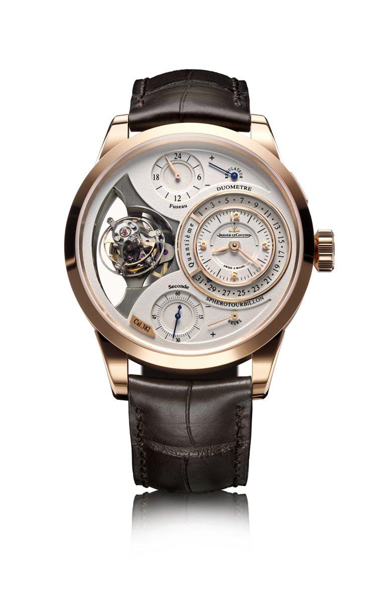 雙翼立體雙軸陀飛輪腕錶Duometre a Spherotourbillon。圖...