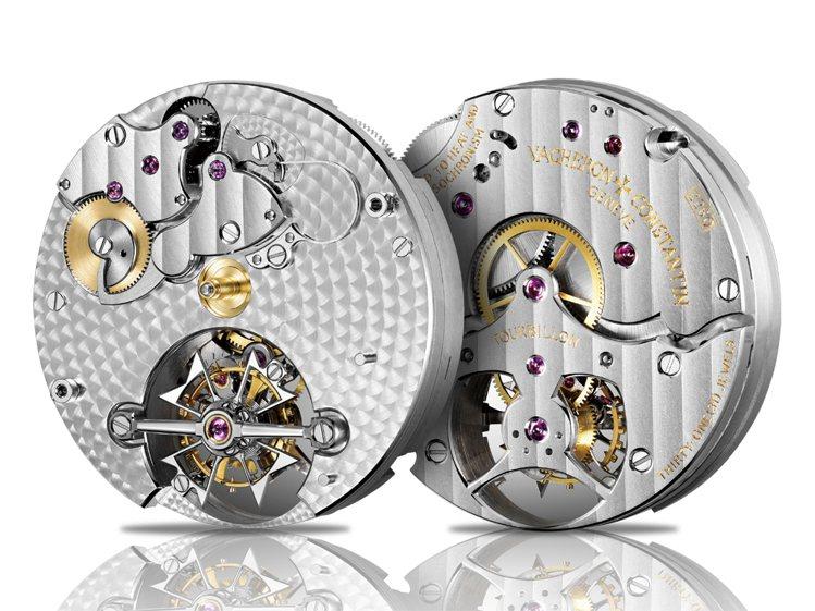 在最密集的情況下,江詩丹頓的機芯上最多可有超過640枚珍珠圓點紋,分成三種大小,...