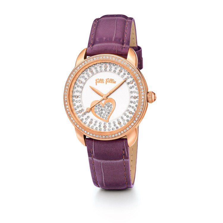 Folli Follie Heartime系列腕表,NT$10,890。圖/Fo...