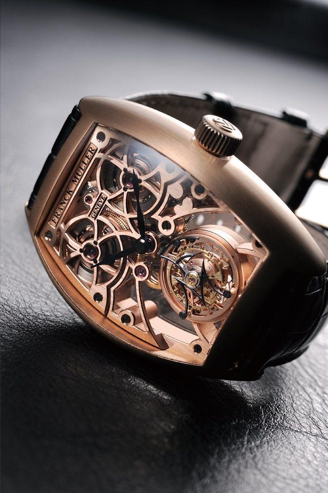 迅雷陀飛輪腕錶:2924手上鍊機芯∕18K玫瑰金材質∕錶徑55.05X40.65...