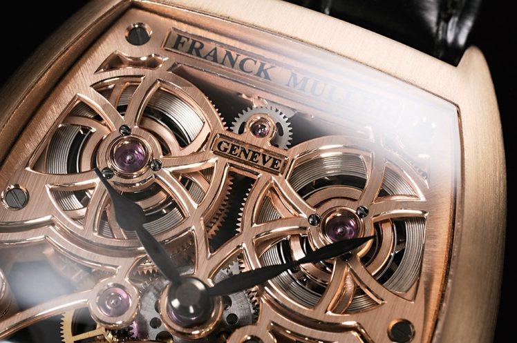FRANCK MULLER 4個發條盒確保能提供足夠的動力儲存。圖/時間觀念