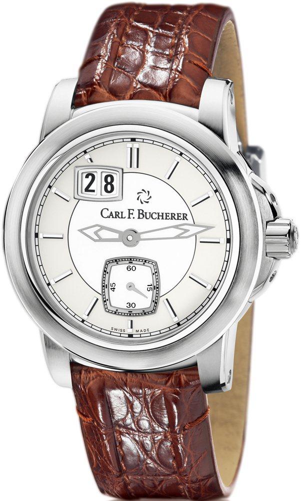 日曆腕錶不鏽鋼材質∕錶徑38.5 mm∕時、分、小秒針指示∕防水50米∕建議...