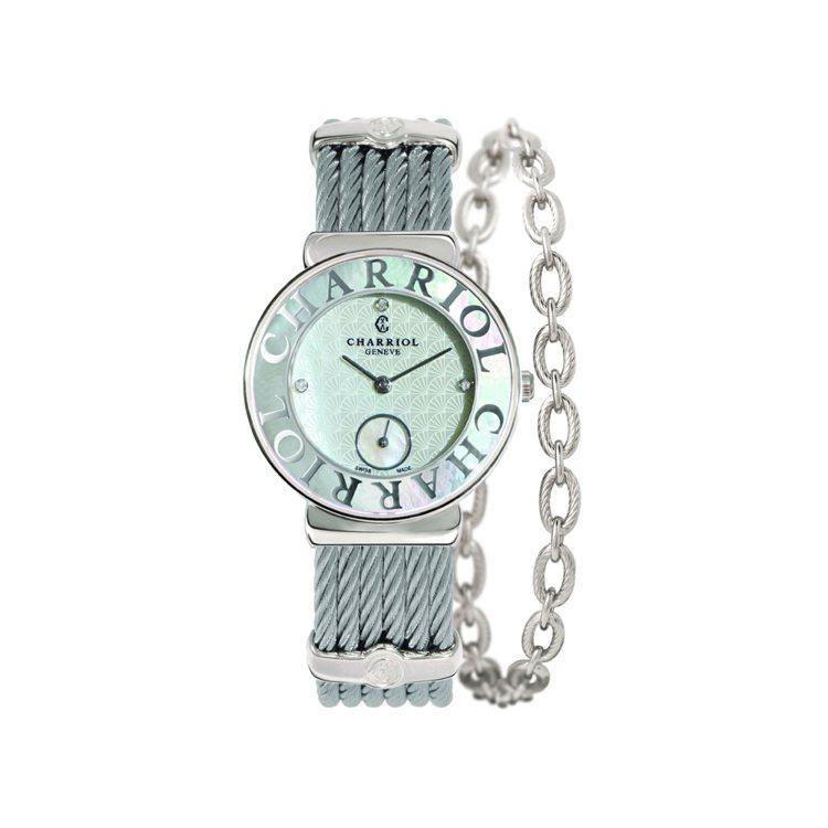 St-TropezTM Seashell腕錶 NT$ 63,700。圖/夏利豪提...