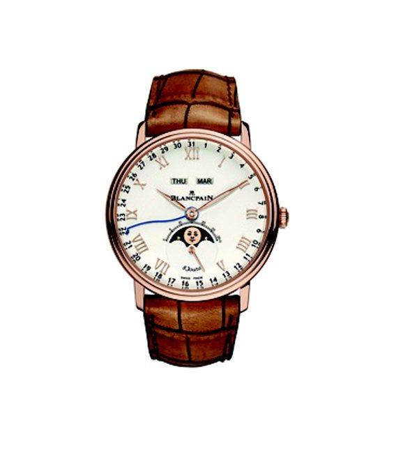 Villeret系列全日曆8日動力儲存腕表建議售價125萬8000元。圖/寶鉑提...
