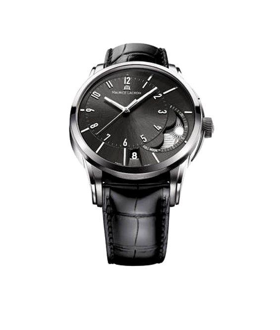 奔濤系列偏心月相腕表,建議售價16萬元。圖/艾美提供