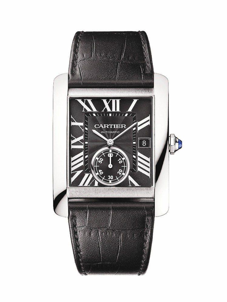 卡地亞Tank MC腕表,精鋼表殼,自動機芯,定價20萬元。圖/卡地亞提供