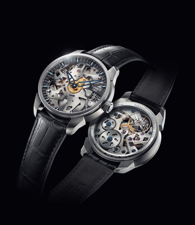 TISSOT T-Complication Squelette 3D鏤空腕錶,建...