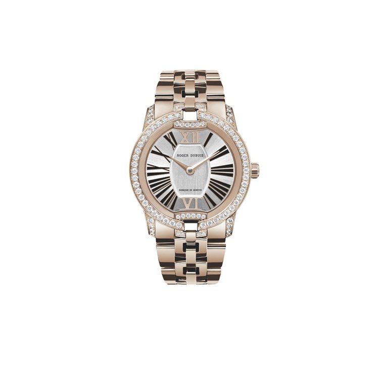 Velvet Jewellery(pink gold)腕錶。圖/ROGER DU...