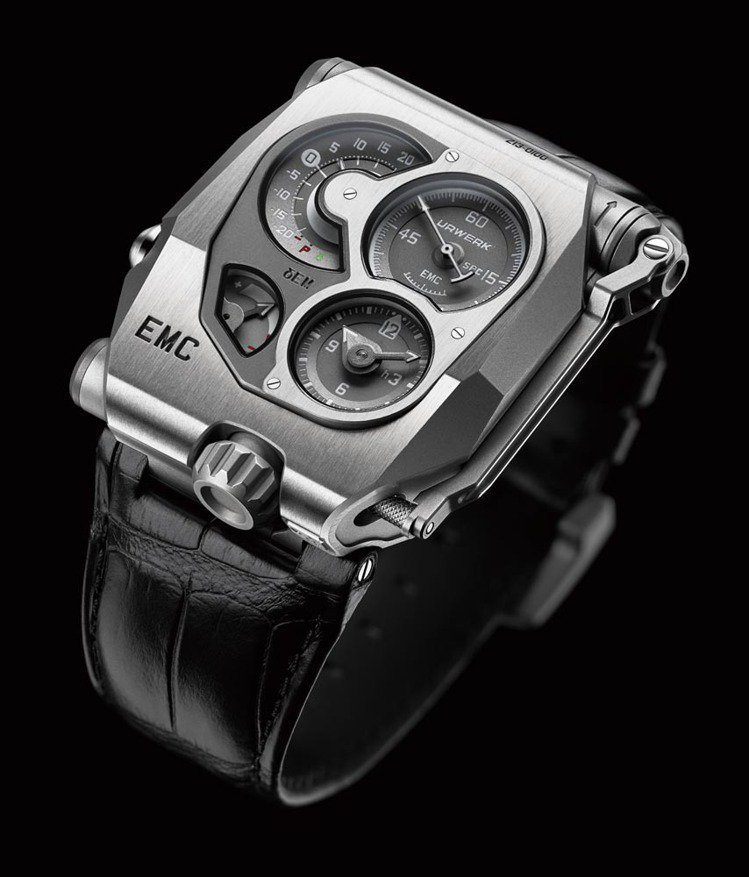 EMC走時誤差監測腕錶 UR XXX手上鍊機芯∕鈦金屬+不鏽鋼材質∕錶徑43×5...