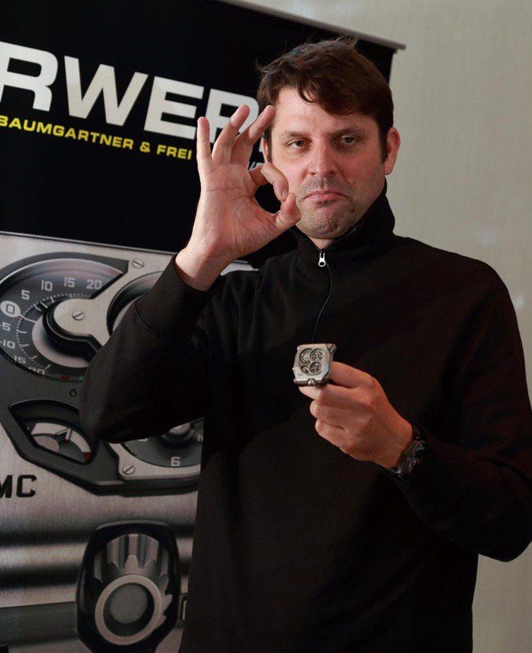 首席製錶師兼品牌聯合創辦人Felix Baumgar tner表示:只要EMC在...