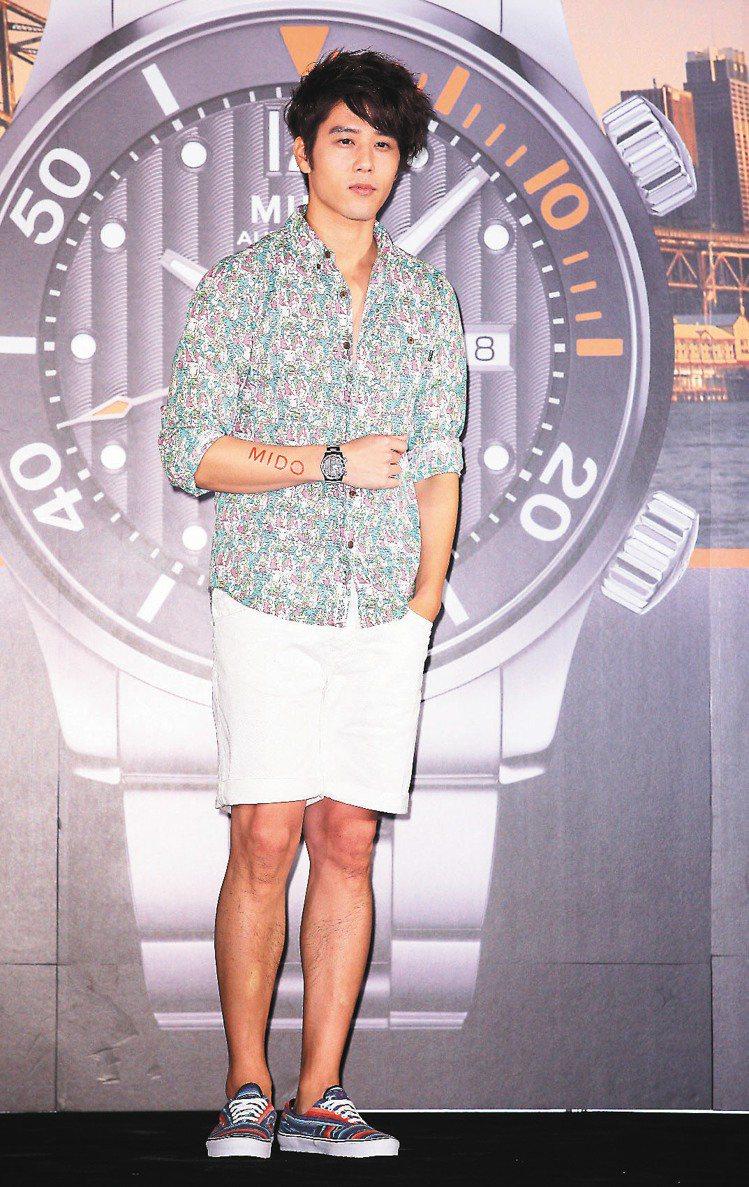 胡宇威表示,手表是過了30歲的男人的重要配件。記者陳立凱/攝影