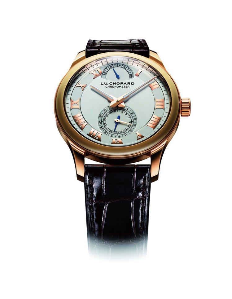 皇家橡樹離岸型陀飛輪計時碼錶L.U.C 1.98自動上鍊機芯∕18K玫瑰金材...