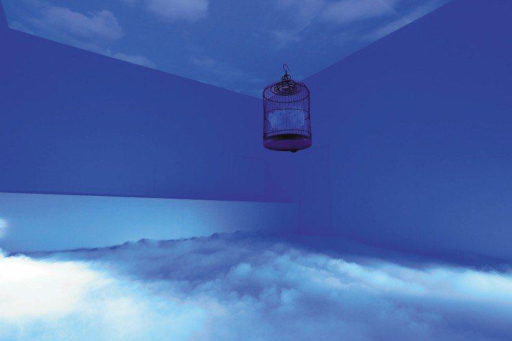 愛馬仕為Arceau新表打造的展間之一,予人如夢似幻之感。圖/愛馬仕提供