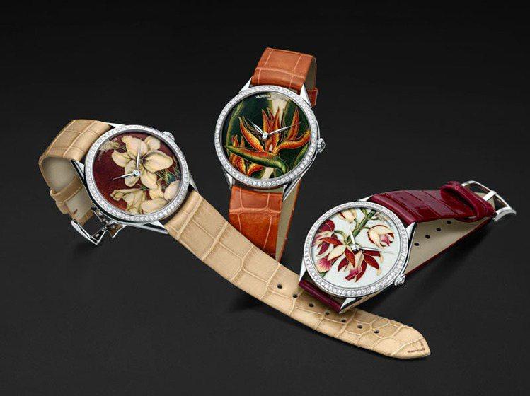 全球限量20枚的藝術大師花之神殿系列腕表報價399萬元。圖/江詩丹頓提供