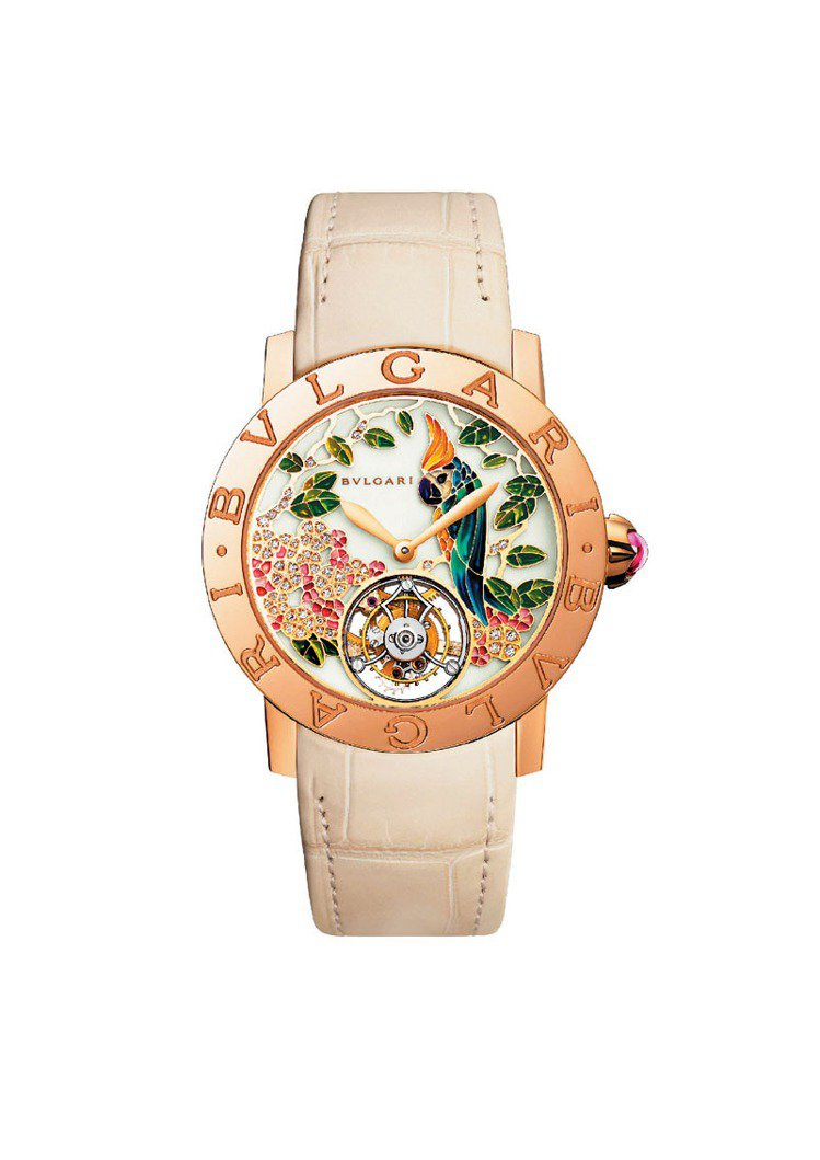 熱帶花園彩繪表,建議售價310萬元。圖/寶格麗提供