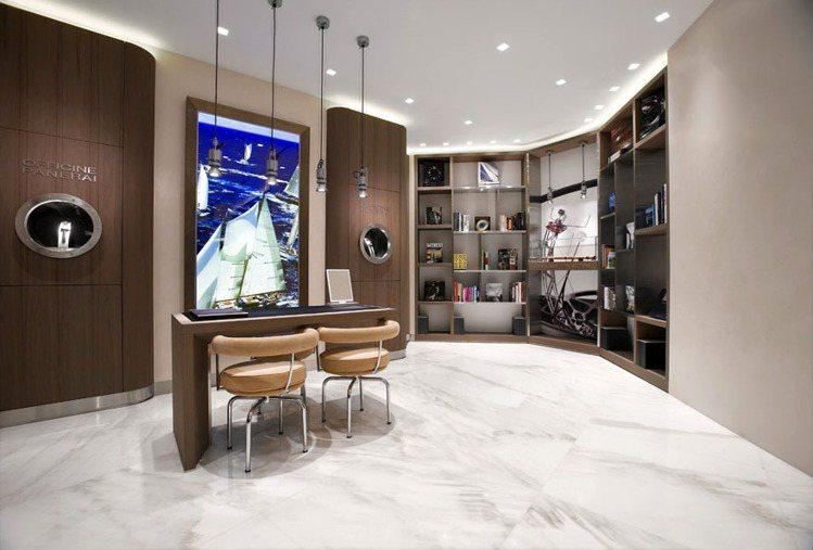 沛納海新加坡專賣店的設計凸顯來自於義大利的品牌歷史和精神。圖/沛納海提供