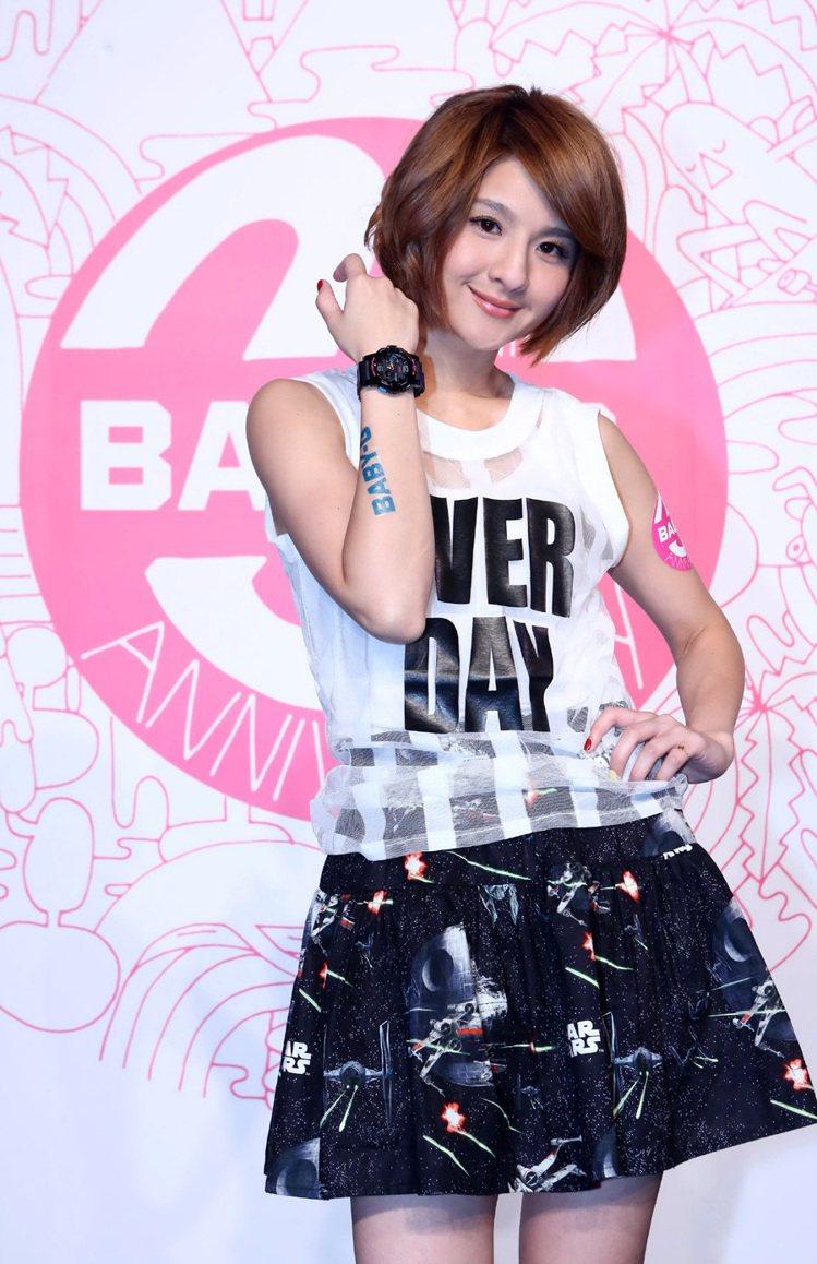 歌手郭靜出席BABY-G 20周年派對。圖/卡西