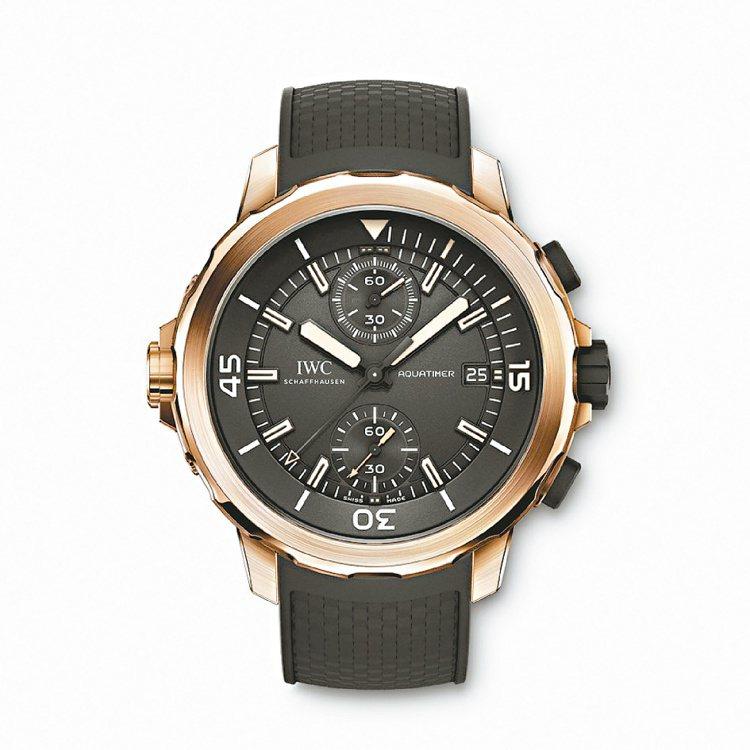 萬國表(IWC)/海洋計時時計腕表達爾文探險之旅特別版/34萬6,000元。圖/...