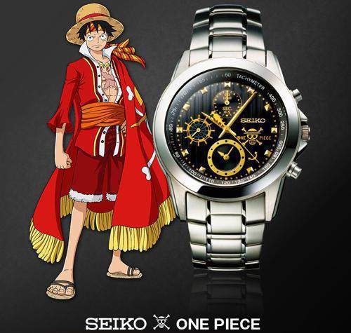 日本知名手表SEIKO為慶祝海賊王One Piece 動畫版15週年,共同合作推...
