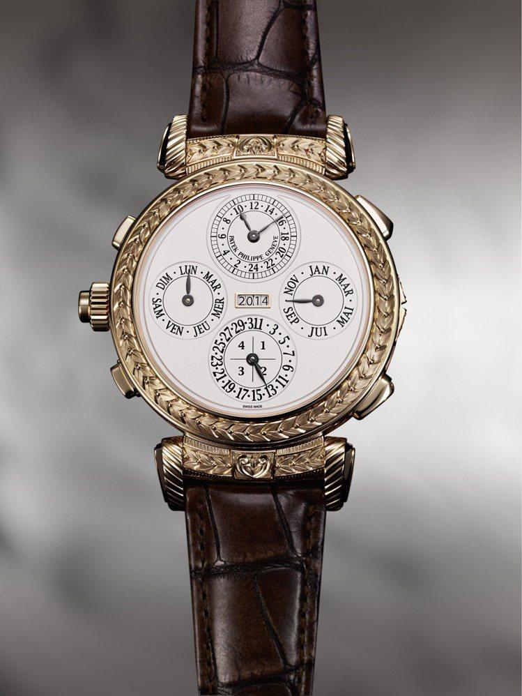 擁有最複雜功能的Grandmaster Chime 大師弦音腕表。百達翡麗提供