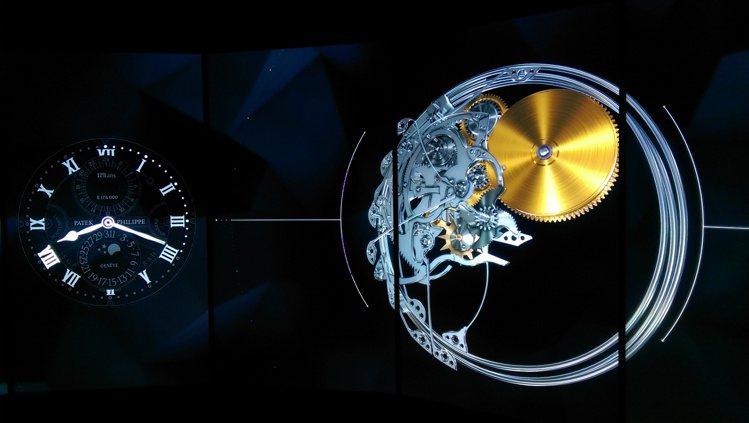 以3D呈現的「類航空模擬器影音」,只是主角換成鐘表,讓觀者去感受遊走在機芯裡的感...