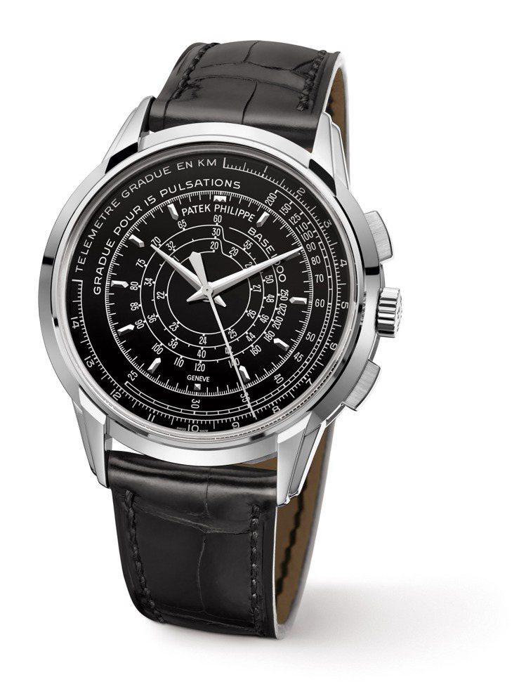 計量功能龐大的Multi-Scale Chronograph 多刻度計時表共八...