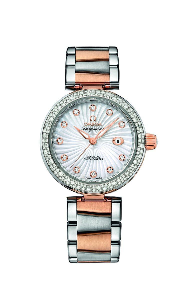 OMEGA碟飛Ladymatic系列腕表,透明表背可一覽8520同軸擒縱機芯,7...