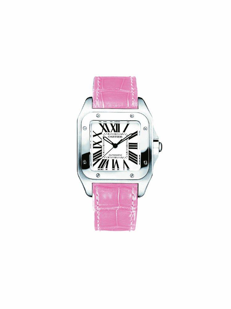 卡地亞Santos 100系列腕表小型款,精鋼表殼搭載自動機芯,20萬1,000...