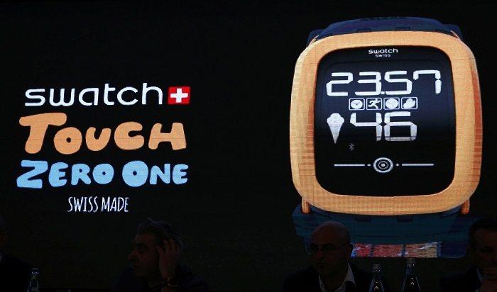 SWATCH集團5月將推出智慧手表Touch Zero。圖/路透