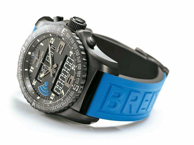 百年靈推出智慧計時腕表B55 CONNECTED搭載品牌自製石英機芯,每兩個月充...