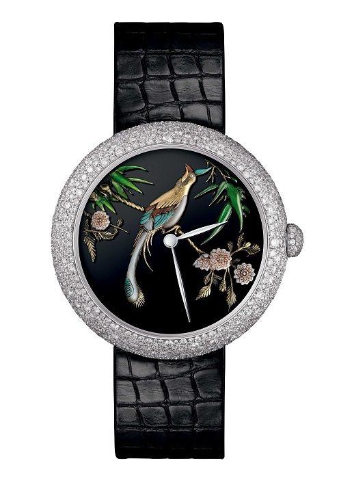 MADEMOISELLE PRIVE COROMANDEL雕刻腕表,18K白金表...