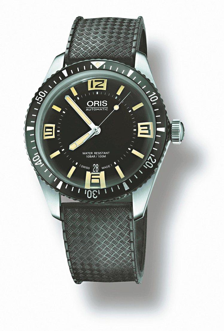 ORIS Divers Sixty-Five潛水表,自動上鍊機芯,精鋼表殼,鋁合...