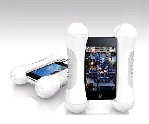 iPone外加喇叭把手ELLPA Bone。 圖/一窩蜂15Fun提供