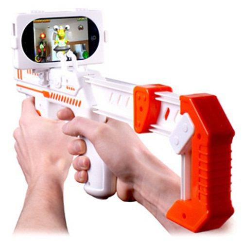 機關槍造型iPhone外加把手AppToyz Blaster。 圖/一窩蜂15F...
