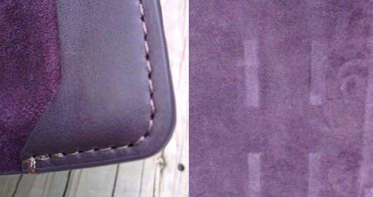 前蓋絨皮內裡藏有貼心的磁鐵定位設計與多角度立放功能。圖/Wow!La Vie